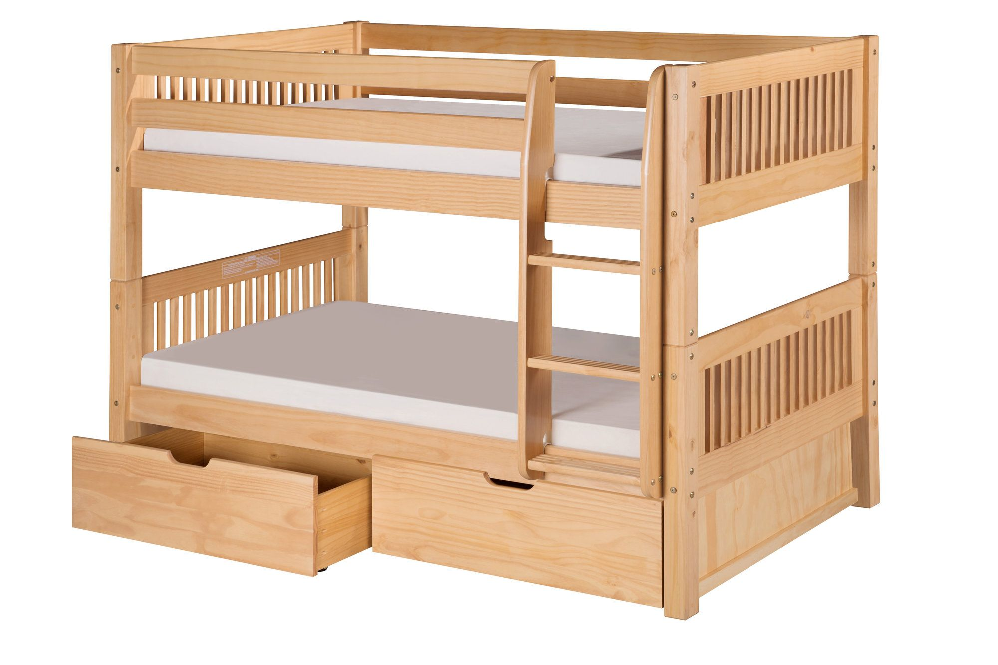 Twin loft bed with stairs and storage  Isabelle Twin over Twin Bunk Bed with Storage  Bunk bed Twins and
