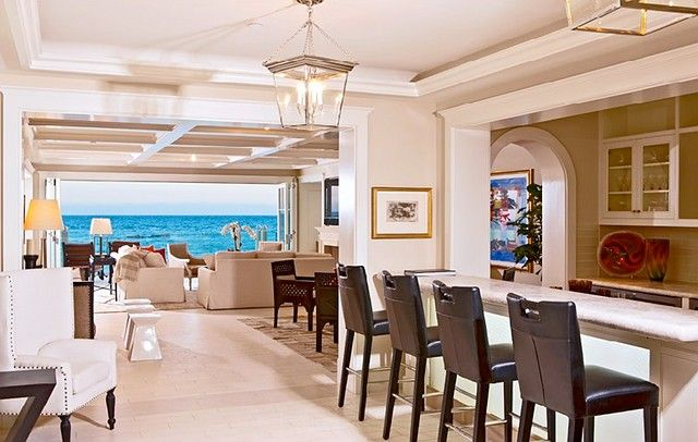 Malibu Colony Beach House Bar And Living Room Area Beaches Indoor Outdoor