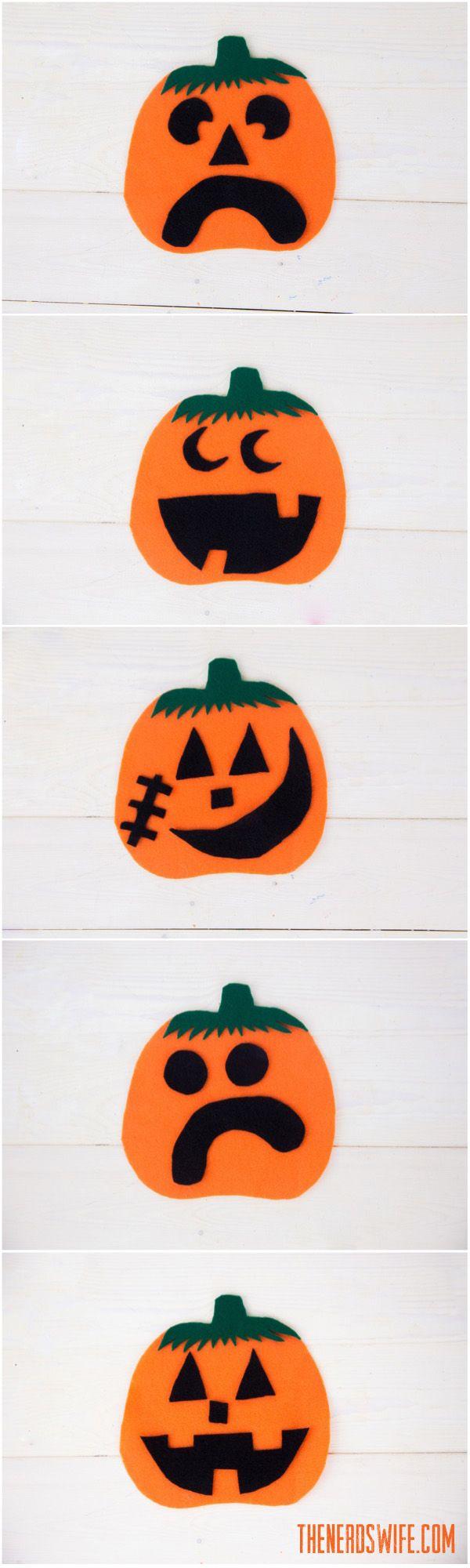 Felt Pumpkin Preschool Craft Preschool Crafts Pumpkin Crafts Preschool Pumpkins Preschool