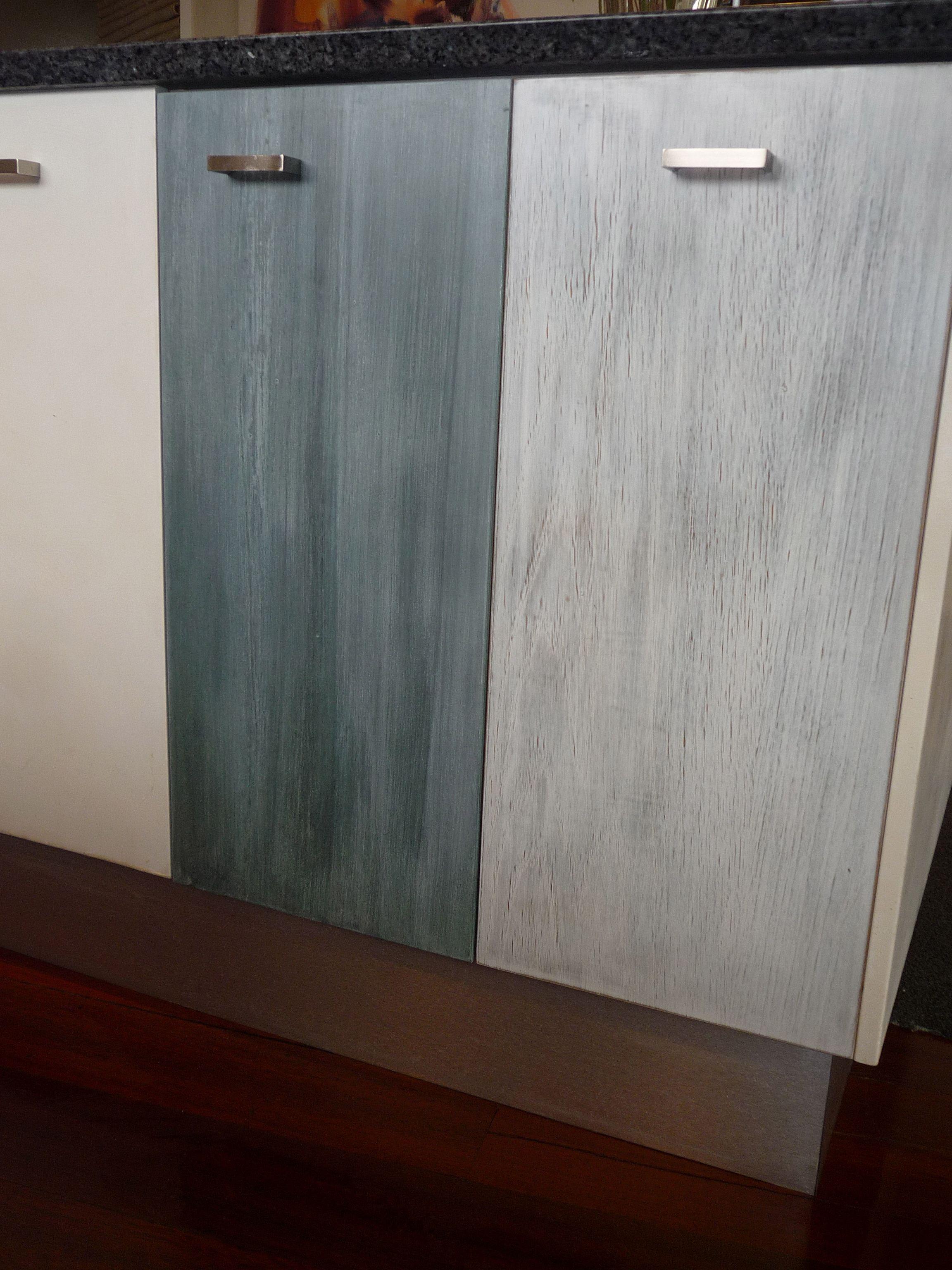 Kitchen Cupboards In Limed Oak And Aged Zinc Finish Porter S Paints Porter Paint Copper Paint Door Handles