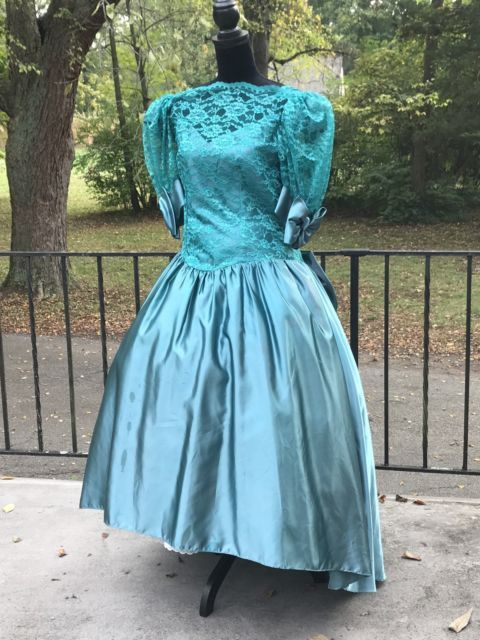Vtg 80s Party Prom Dress Costume Ugly Bridesmaid Plus Size 17/18 ...