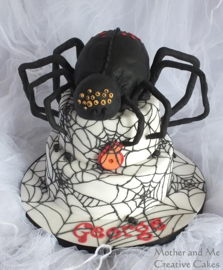Spider Web cake - Cake by Mother and Me Creative Cakes