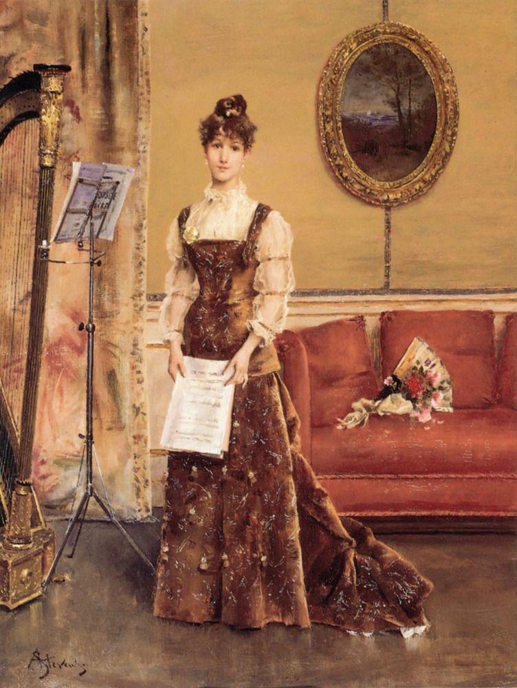 Alfred Stevens, La Femme à la Harpe