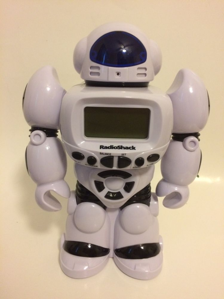 Radio Shack Talking And Moving Robot Banker And Alarm