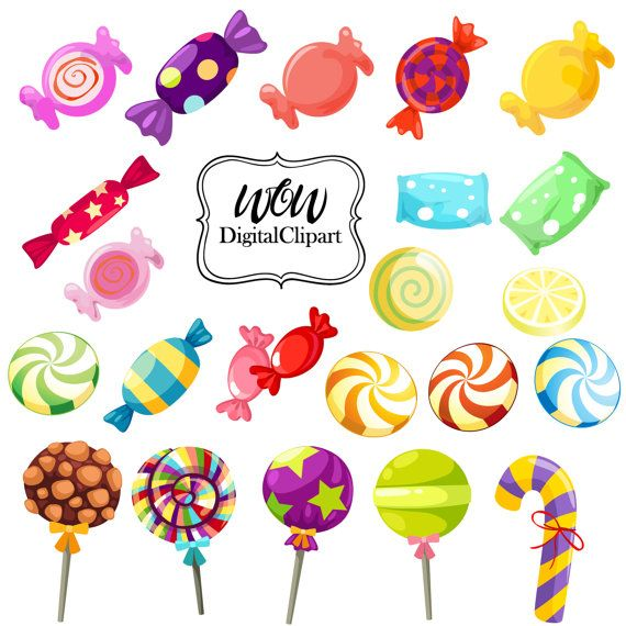 rainbow candy clipart sweet shop candy clip art lollipops rh pinterest com sweets clipart free sweets clipart jpg