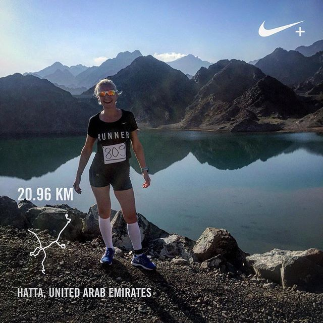 Thanks for a great photo and comments from @kroosvald. Hatta Hills half marathon✅. Never run in such a steep incline, took my time to walk up and enjoy the beautiful scenery and get some photos on the way. Time 2:05:53, pace 06:00. Great experience and wonderful day spent with #run4ap family! #hattahillshalfmarathon #hattahills2017 #running #anothermedal #loverunning #hatta #uae #runnergirl #dowhatyoulove #sports #fitness