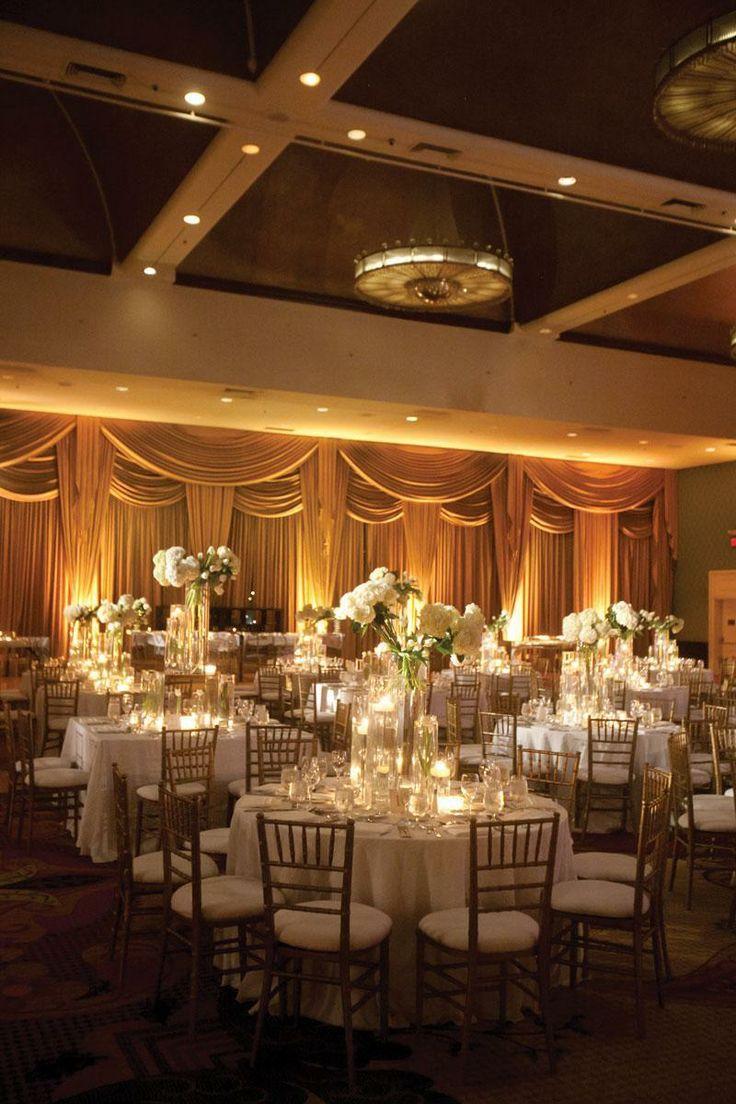 Classic Gold & White Wedding Reception #weddingideas