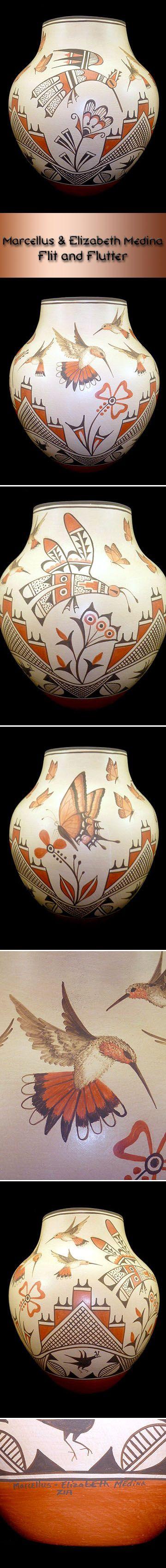 Zia Pueblo Pottery by Marcellus & Elizabeth Medina Flit