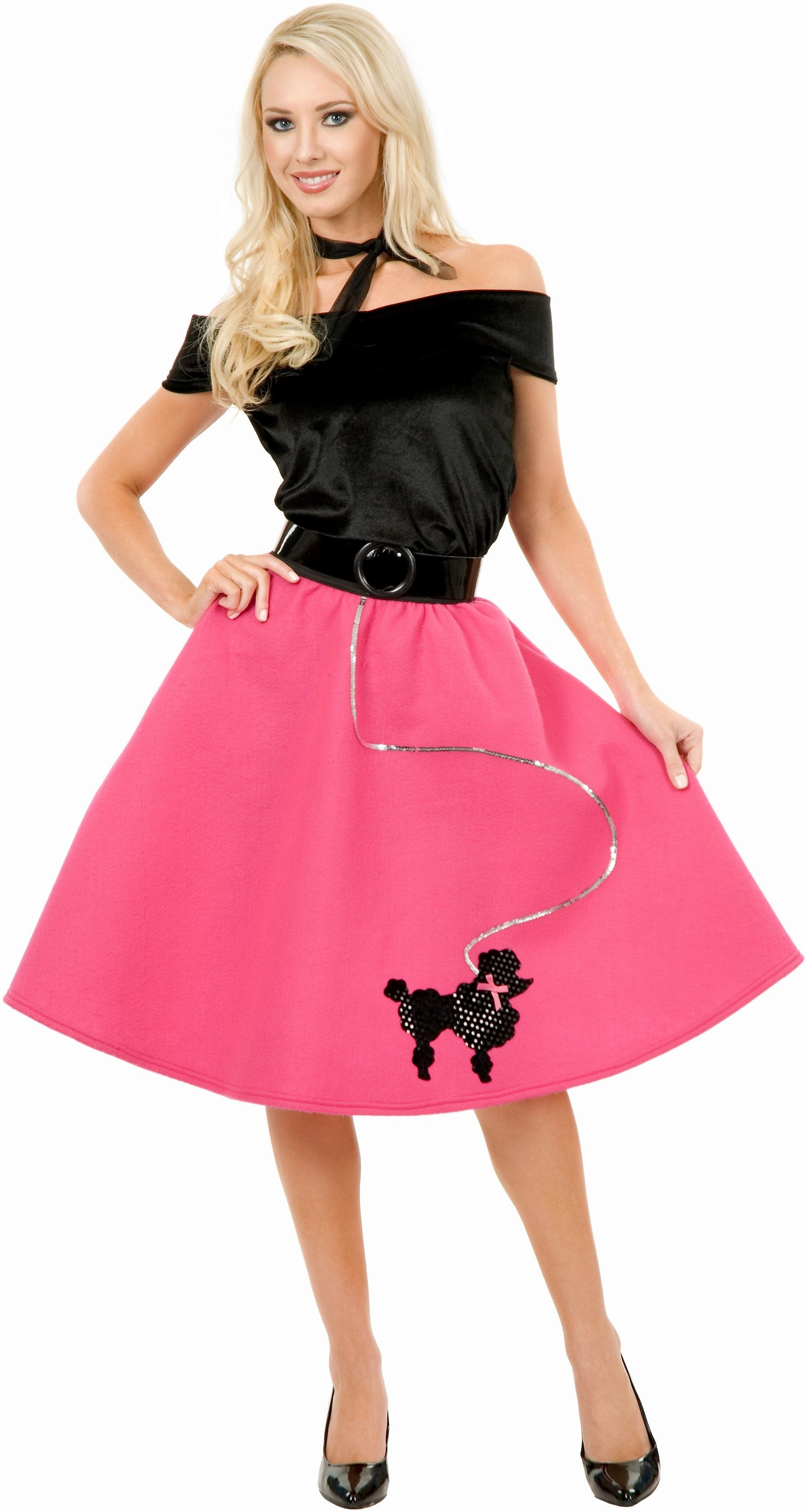 Adult Poodle Skirt, Top and Scarf Costume This adorable 1950\'s ...