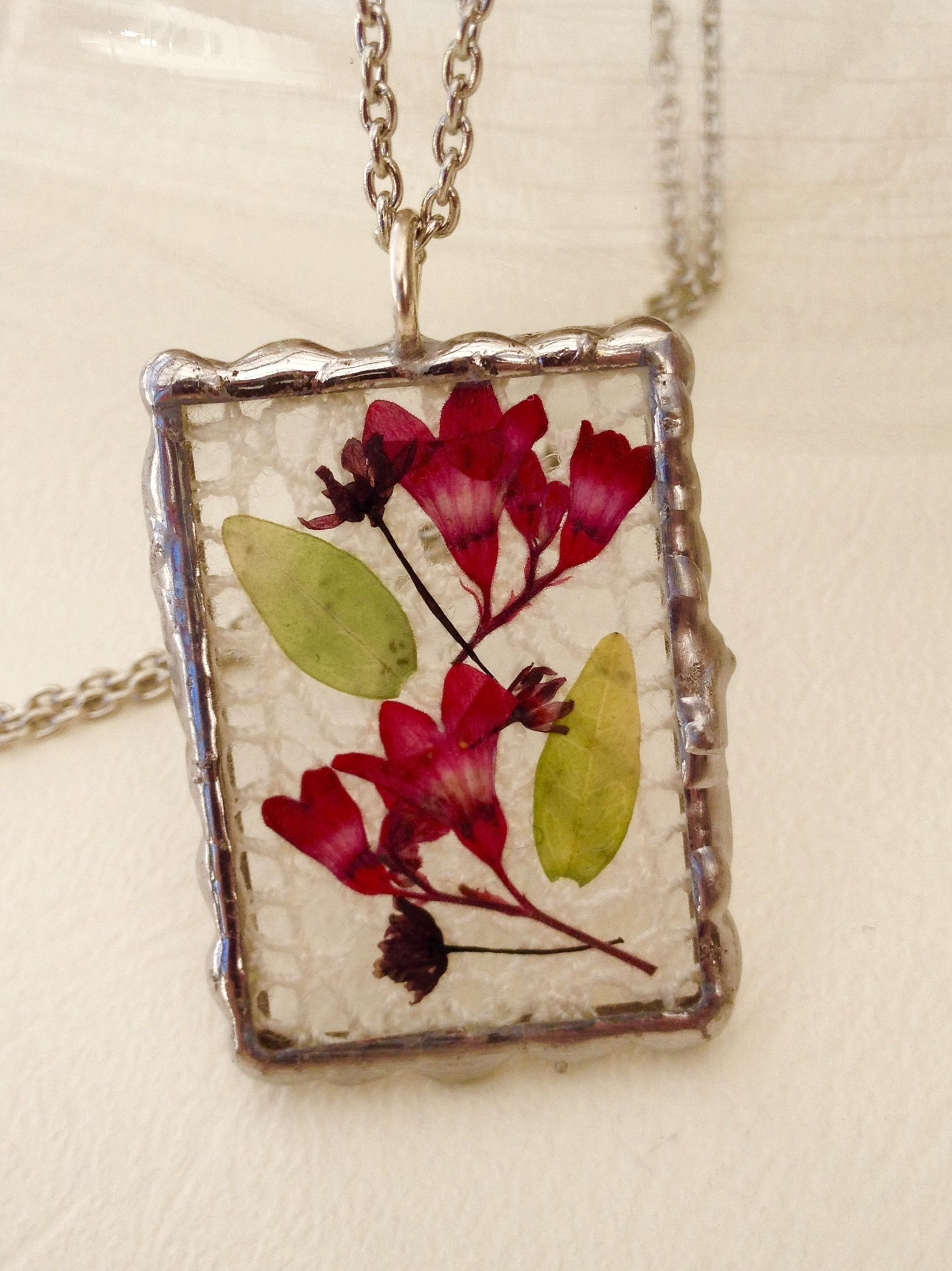 Soldered glass pendant handmade lace and pressed flowers colors soldered glass pendant handmade lace and pressed flowers aloadofball Images