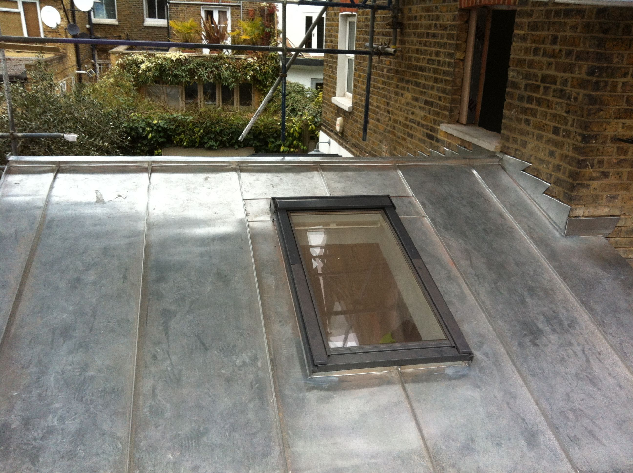 Zinc Flashing To Skylightsrooflights Eco Roofing
