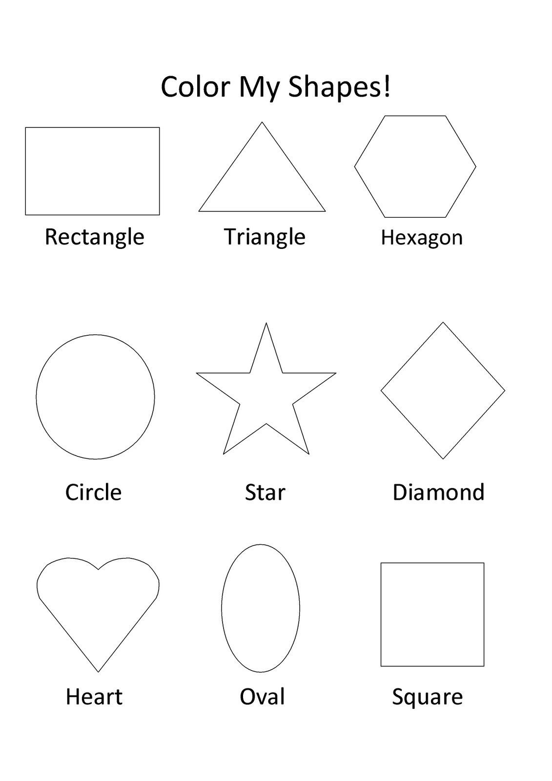 Pin By Laurel Jenkins On Gracie Kindergarten Shape Coloring