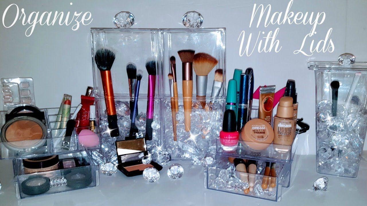 Diy Makeup Organizer Brush Storage Lids Using Dollar Tree