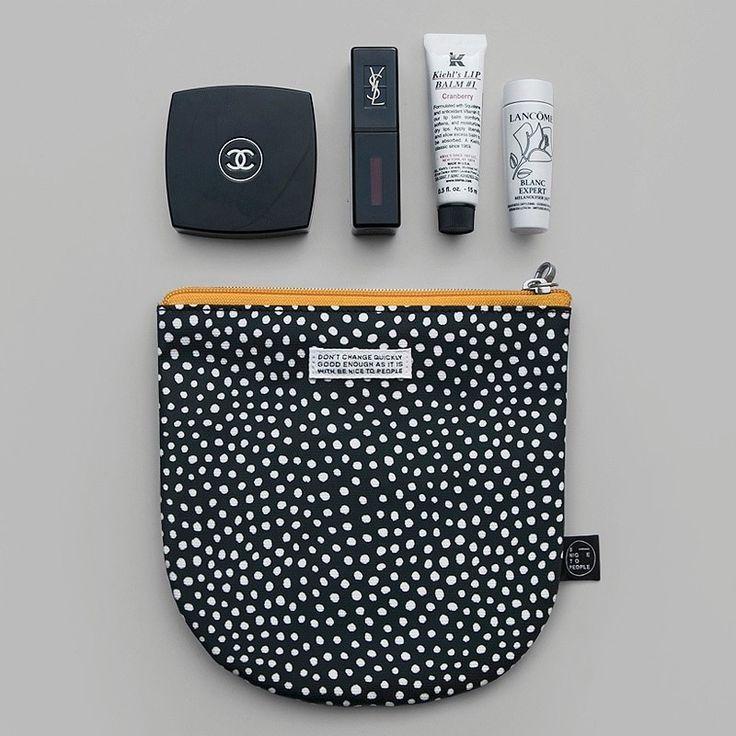 Photo of BNTP Semicircle medium zipper pouch with strap – Fallindesign.com