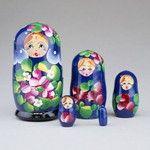 "5 Piece Wooden Nesting Doll - Colorful 3.75"" Nesting Dolls - Wooden Nesting Dolls - By Polish Wooden Gifts - 644527125169 at Polart - Poland..."