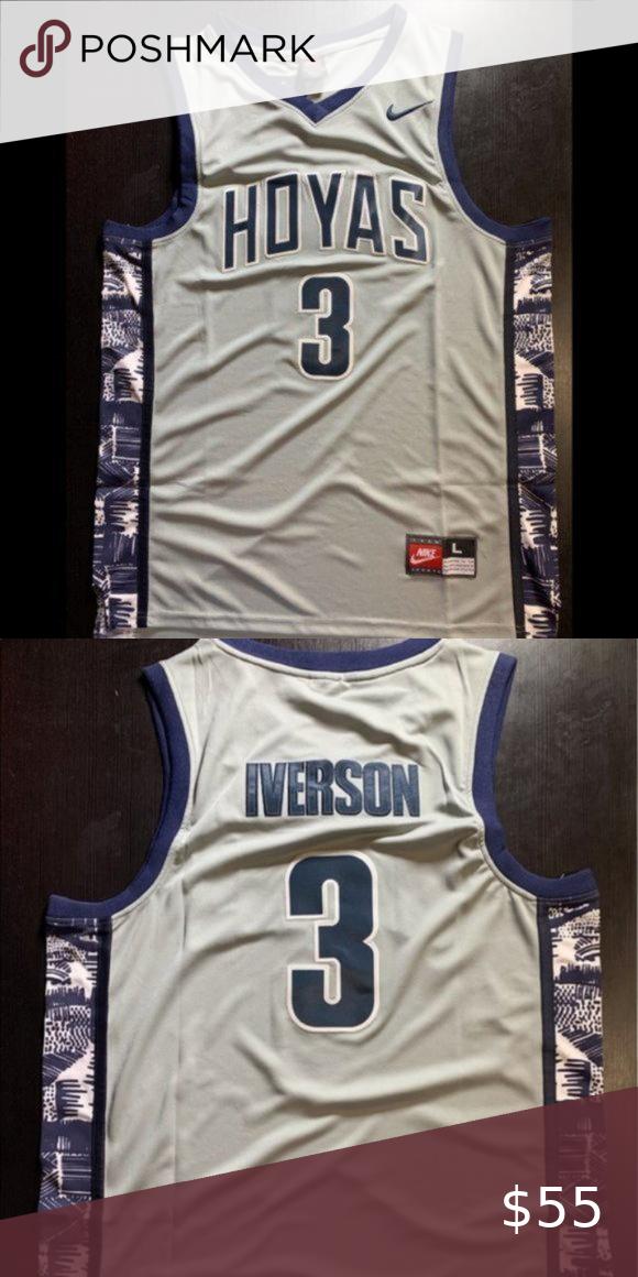Allen Iverson #3 Georgetown Hoyas Jersey Allen Ive