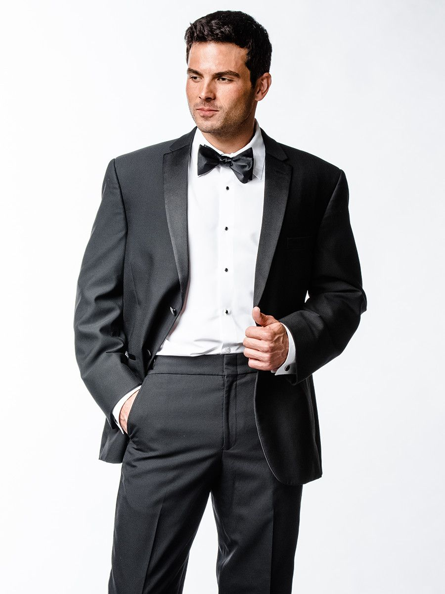 Black tuxedo for your groom. Perfect for a black tie wedding. The ...