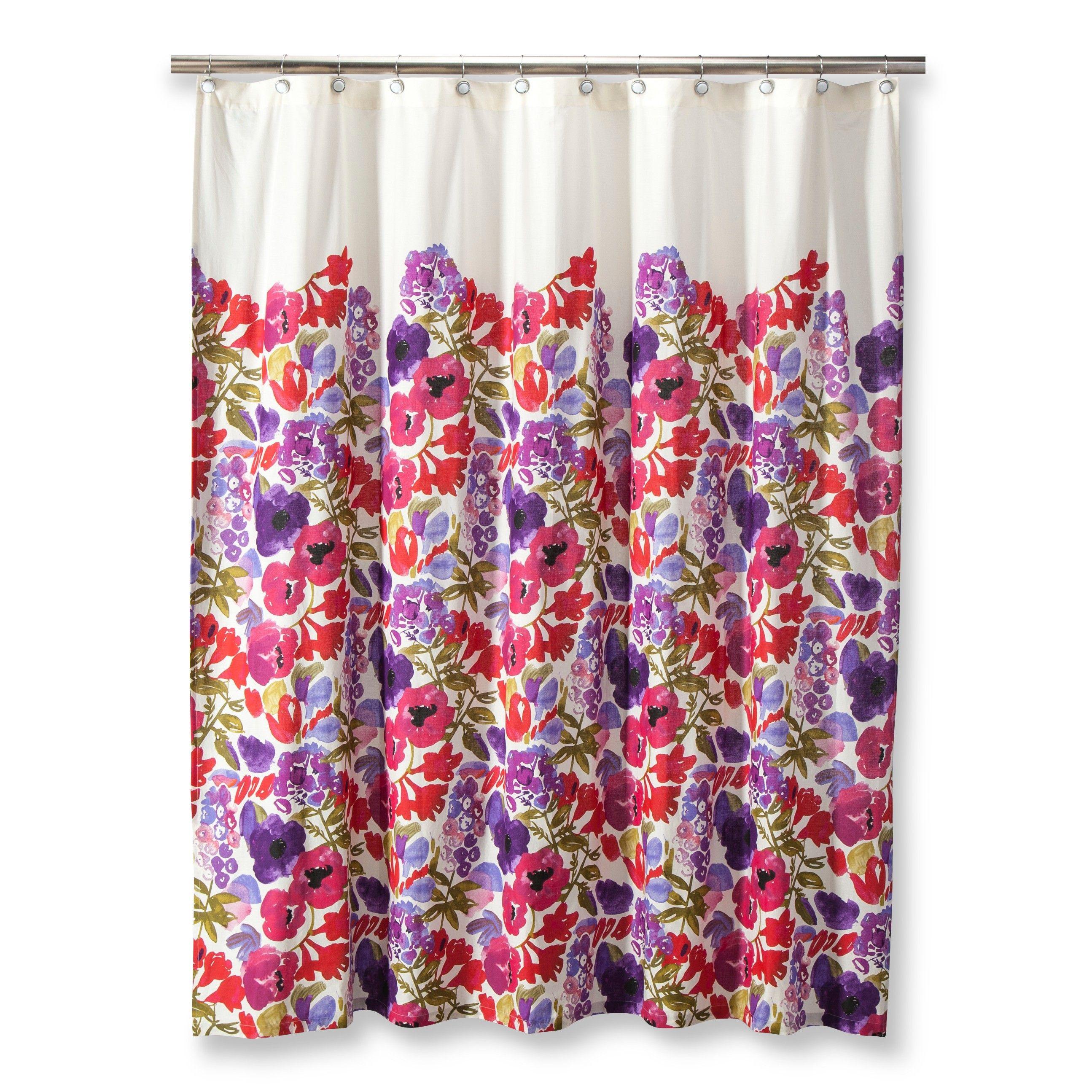 Boho Boutique Boho Garden Shower Curtain Target Floral Shower