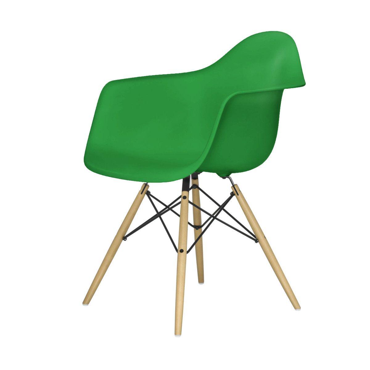 Eames Plastic Armchair Stuhl DAW mit Filzgleitern classic