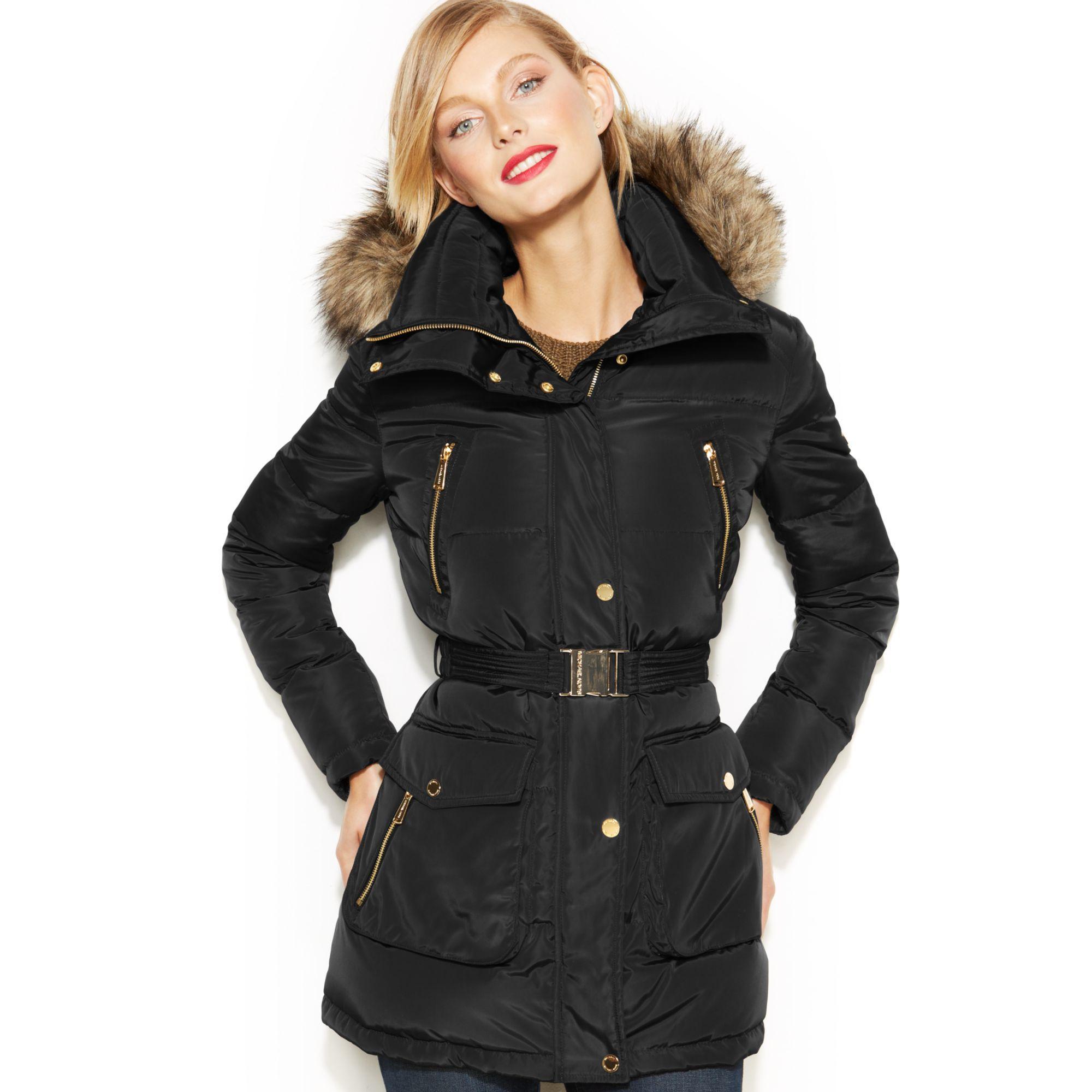 Michael Kors Coats Women S Winter Wool Trench Coats Lyst Michael Kors Puffer Coat Down Puffer Coat Coats For Women [ 2000 x 2000 Pixel ]