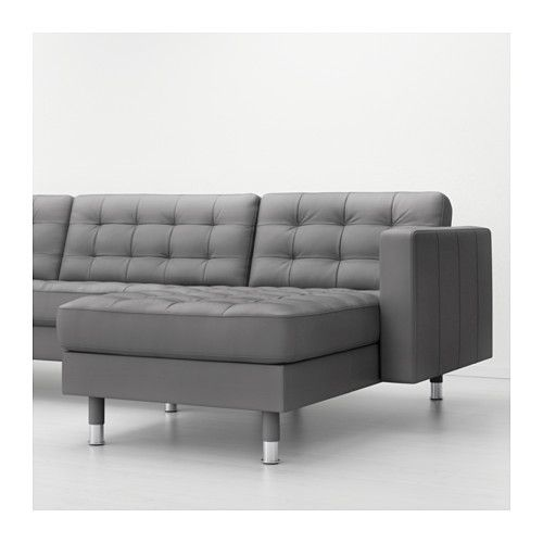 Lazy Boy Sofa LANDSKRONA Sofa and chaise lounge Grann Bomstad gray metal IKEA