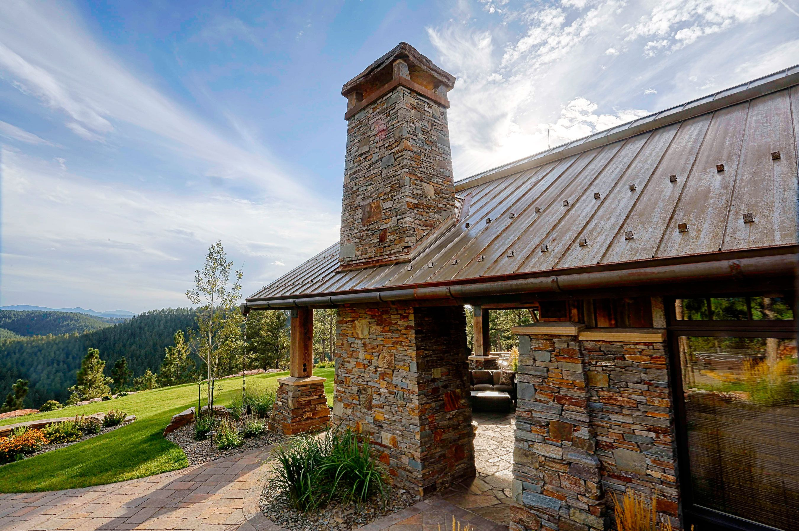 Rustic Metal Roof By Bridger Steel. Finish Deepens And Rusts Over Time To  Reveal A