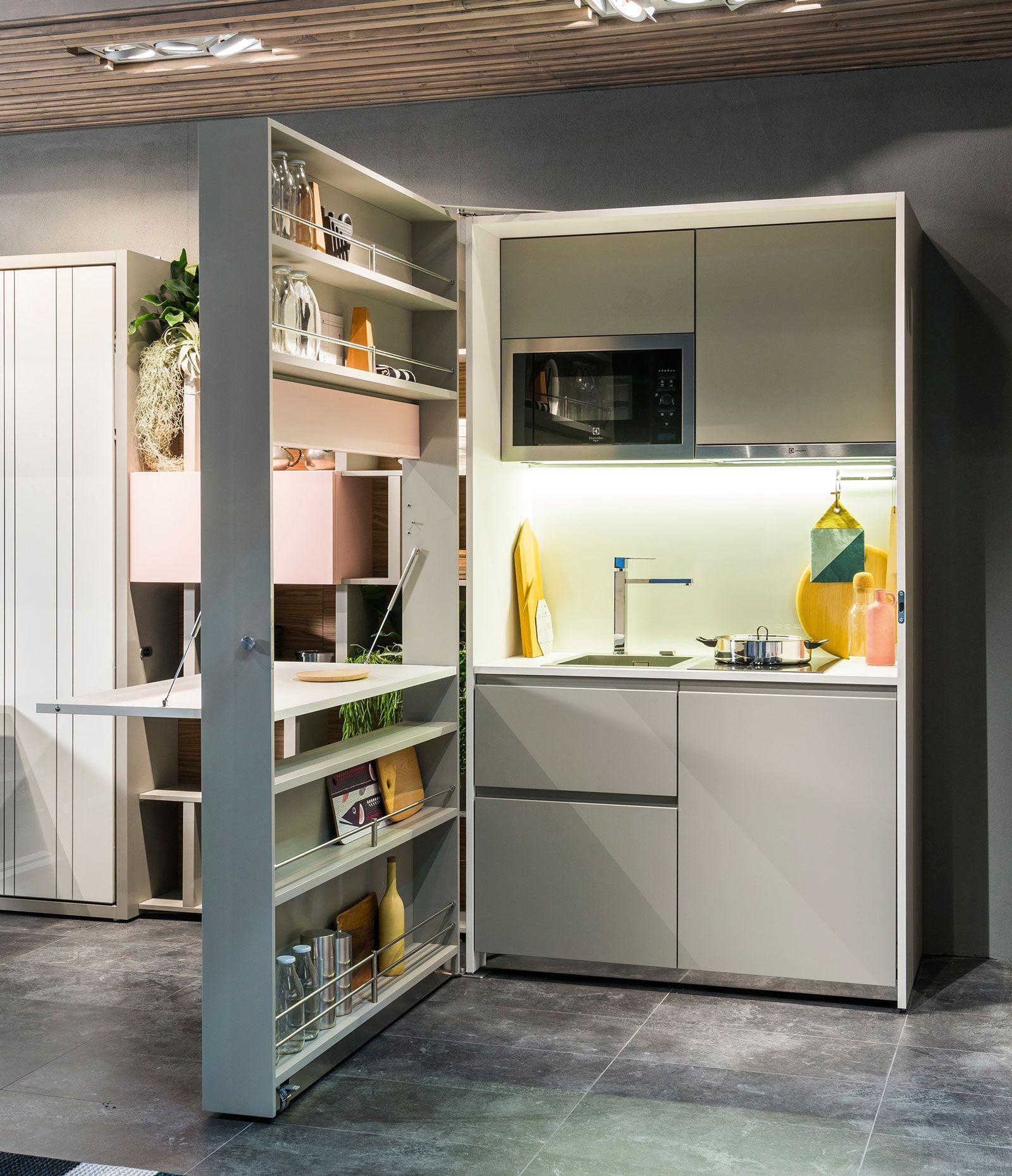 Cucine piccole composizioni compatte anche per il for Composizioni soggiorno design