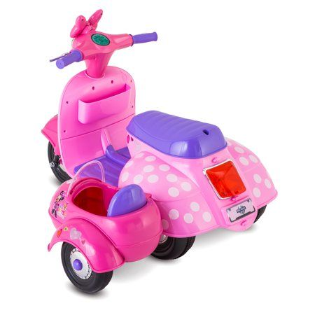 Disney Minnie Mouse Happy Helpers Scooter with Sidecar Ride-On Toy by Kid Trax - Walmart.com