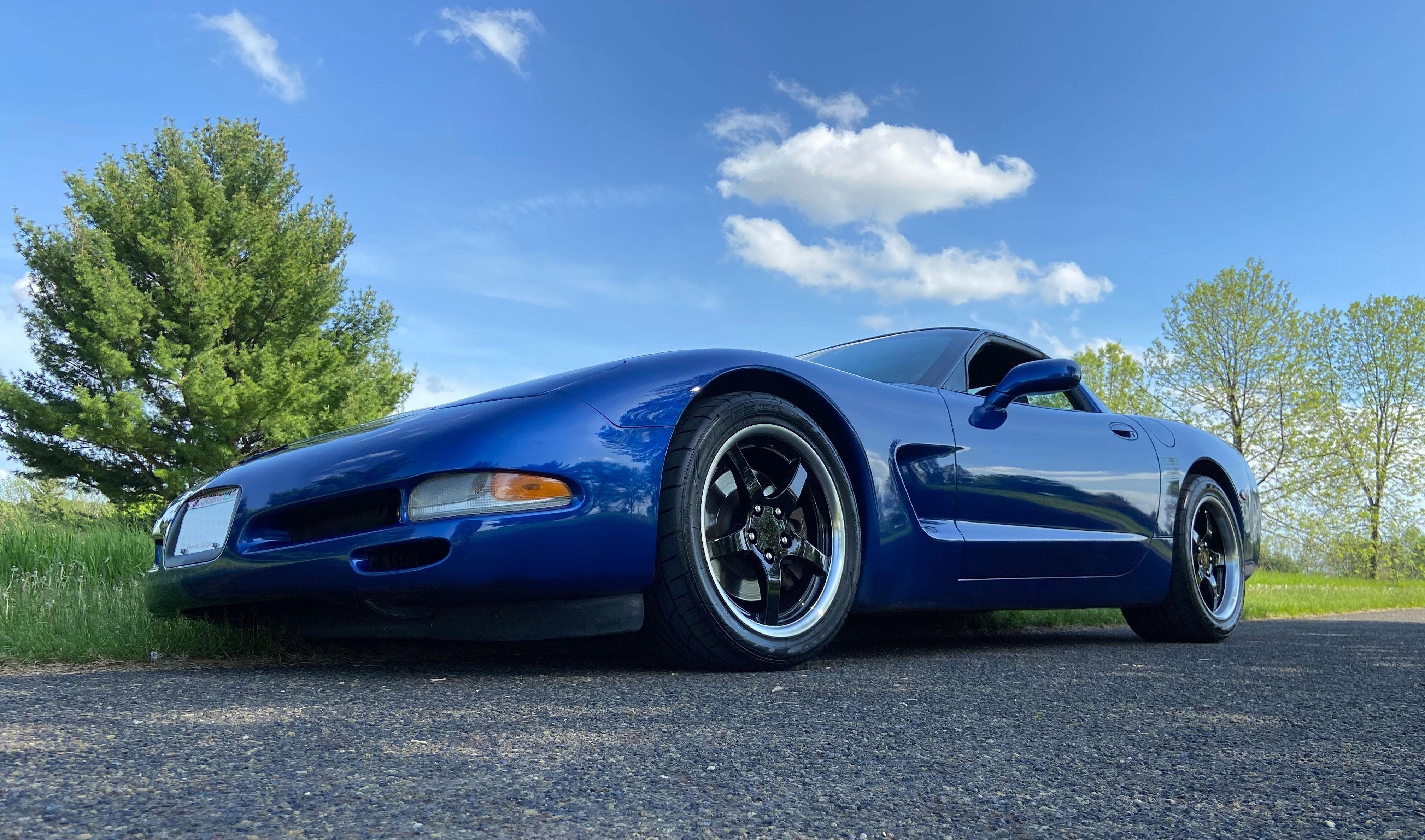 Fits Corvette C5 Rims Cv05 Dd Black Corvette Wheels 18x10 5 18x9 5 Staggered Black Corvette Corvette Corvette Wheels