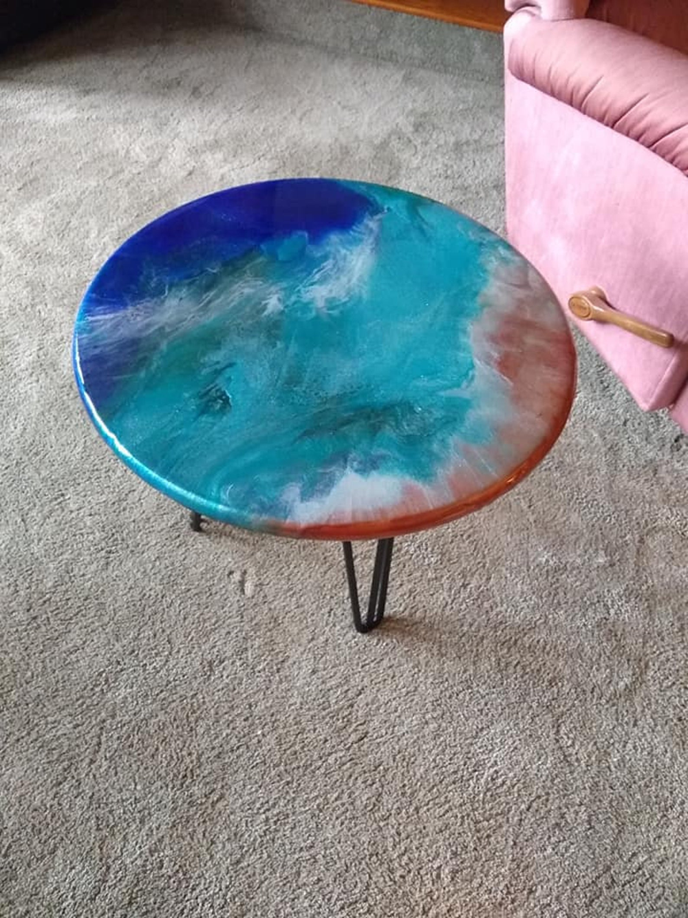 Special Listing Epoxy Resin Round Table Top 42 Inch Free Shipping Resin Table Backyard Furniture Resin Patio Furniture [ 1333 x 1000 Pixel ]