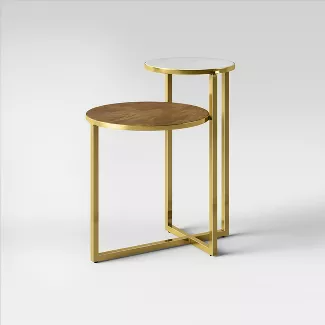 Mixed Material Marble Metal Accent Table Gold Project 62 In 2020 Metal Accent Table Accent Table Wood Accent Table