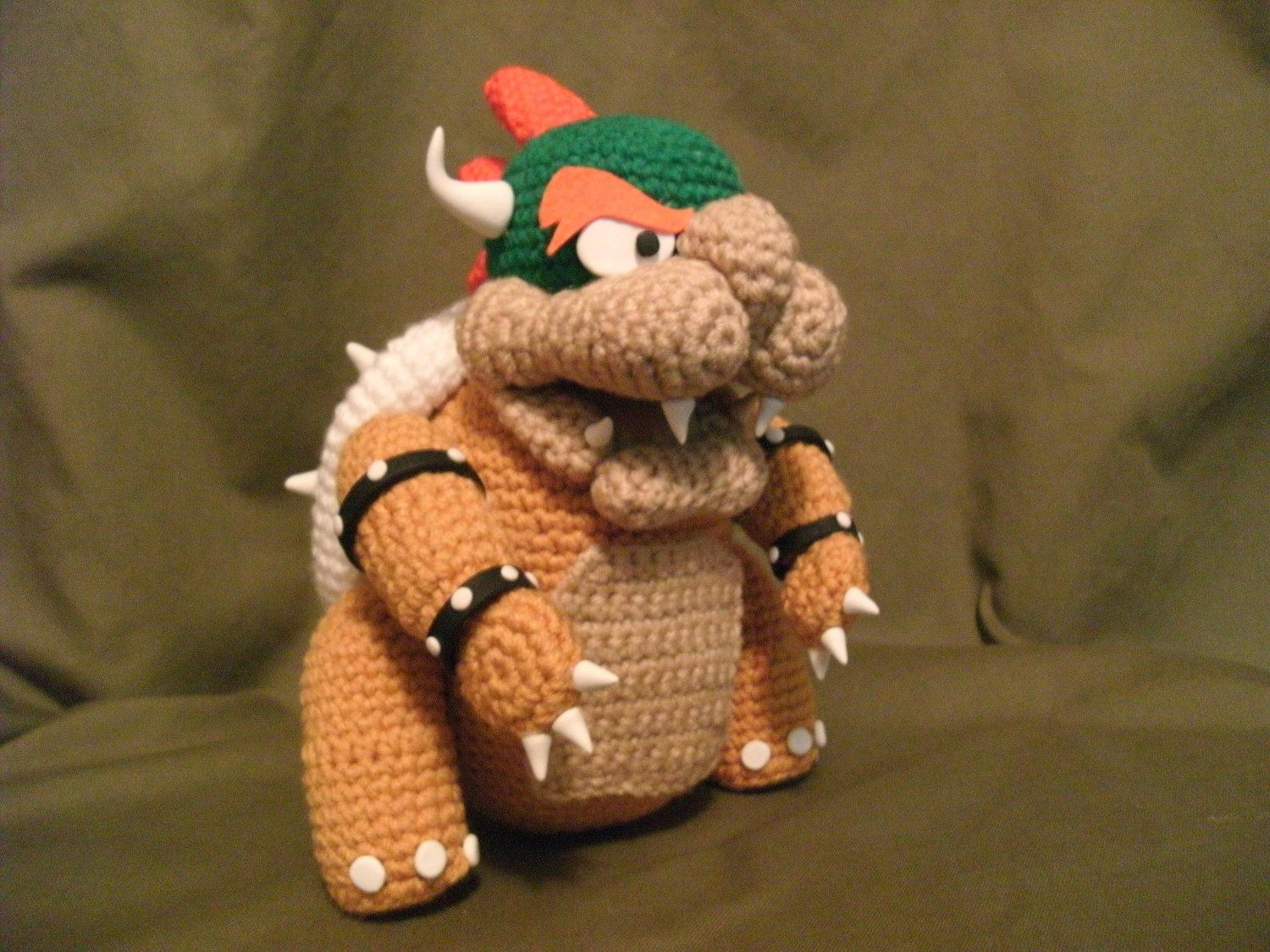 Bowser Doll Super Mario Brothers Crochet by WhatnotsbyLori on Etsy ...
