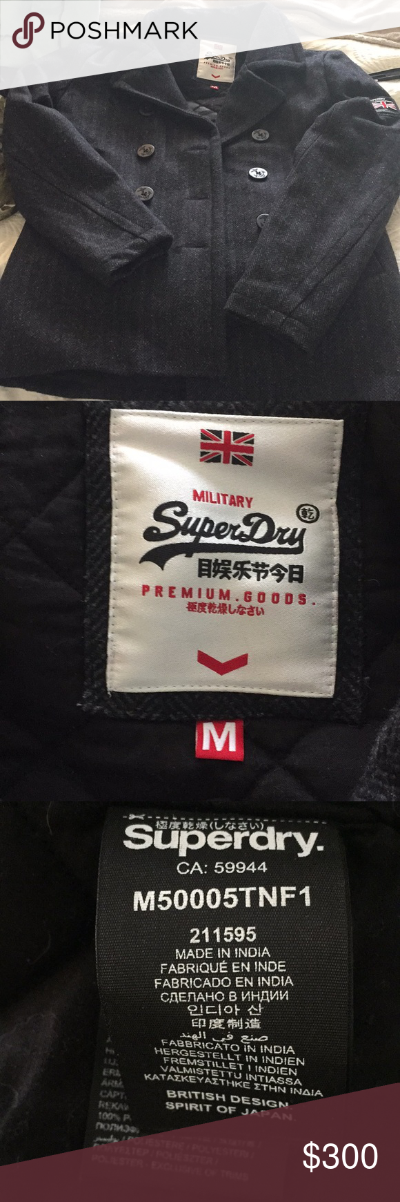 Superdry Coat Size M Fits Like Small Clothes Design Superdry Military Jacket Green [ 1740 x 580 Pixel ]