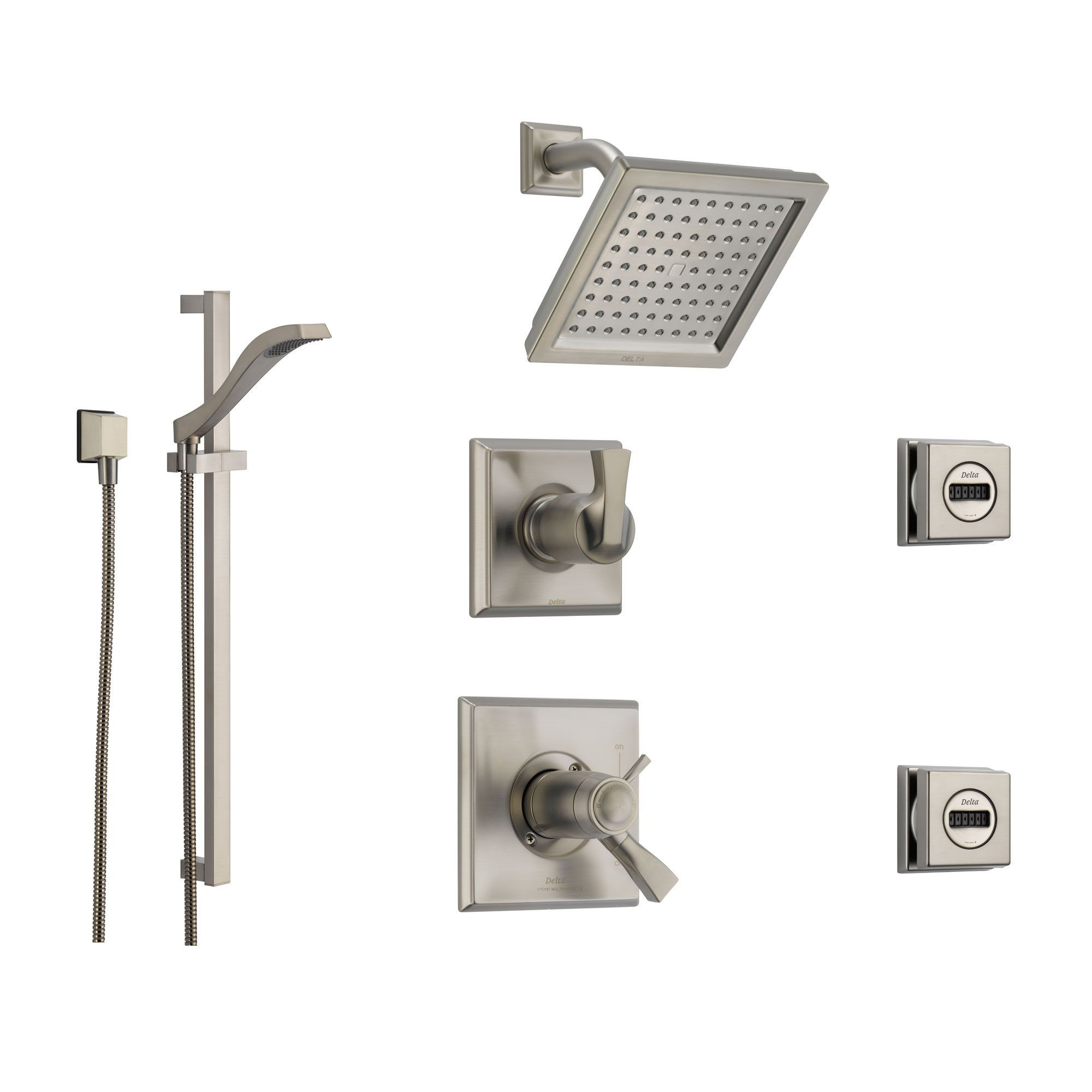Delta Dryden Stainless Steel Shower System With Thermostatic