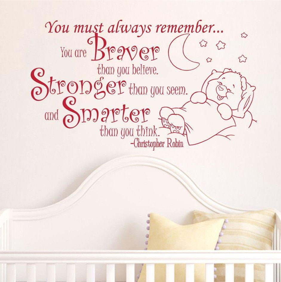 Cute Baby Sleeping Quotes: Creative Baby To Sleep Home Decoration Baby Quote Wall