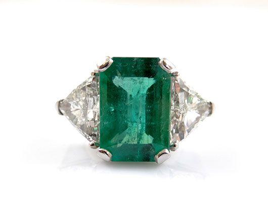 ring mit diamanten smaragd 750 gold igi expertise wert ca eur ebay bling. Black Bedroom Furniture Sets. Home Design Ideas