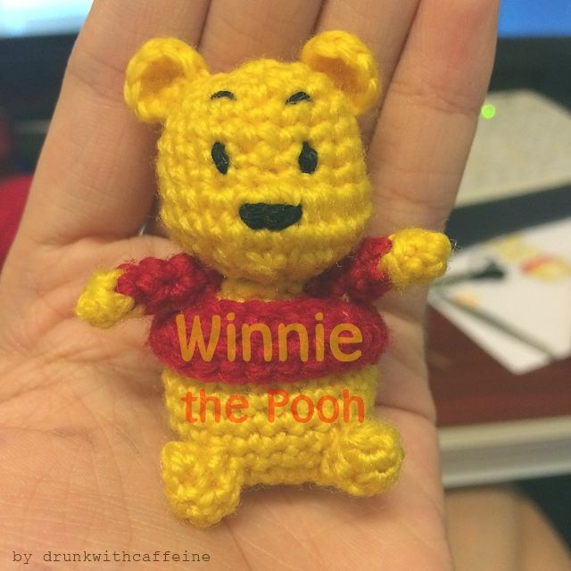 Mini Winnie the Pooh crochet pattern is here! This little guy is ...