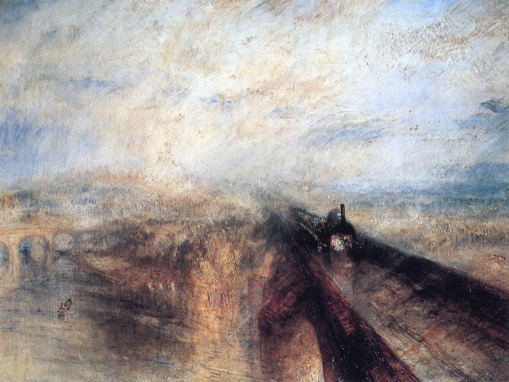 Rain, Steam and Speed, The Great Western Railway, Joseph Mallord William Turner 1844