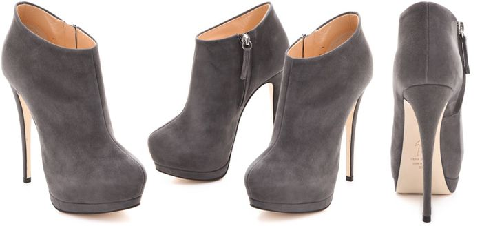 Giuseppe Zanotti Grey Suede Ankle Boots lhZXY