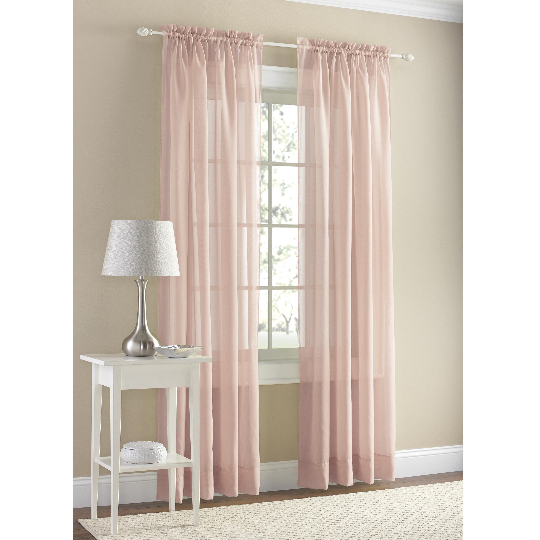 Mainstays Marjorie Sheer Voile Curtain Panel Ad Sheer Spon