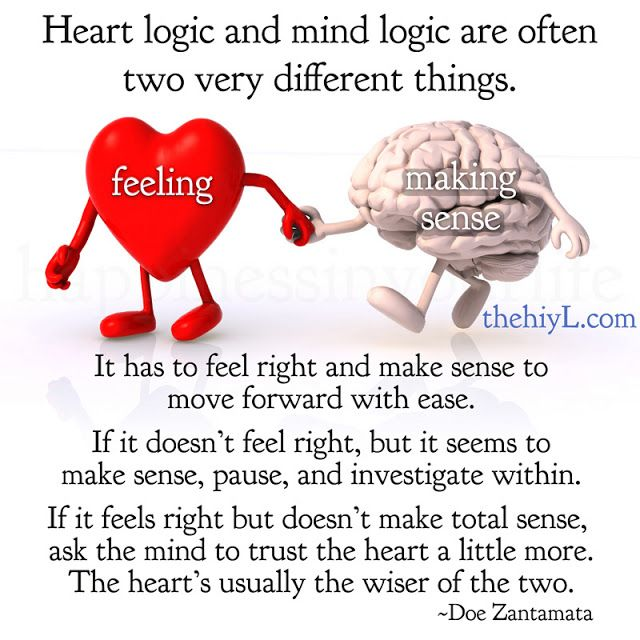 Heart Vs Mind The Heart Is Usually The Wiser Of The Two Words