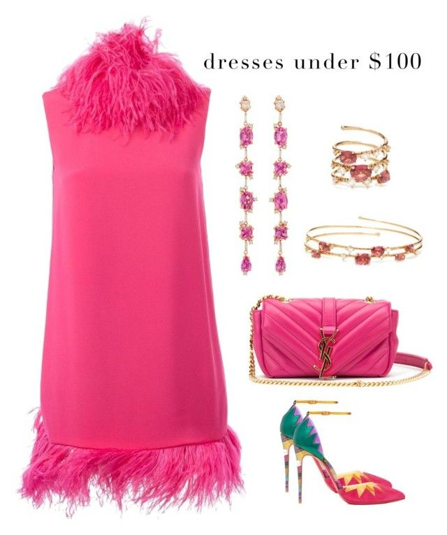 """Summer Soiree"" by karen-galves ❤ liked on Polyvore featuring Gianluca Capannolo, Christian Louboutin, Yves Saint Laurent, Suzanne Kalan, Mattia Cielo and under100"