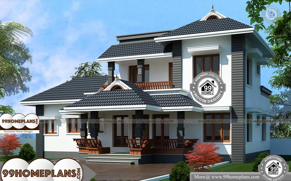 Traditional 2 Story House Plans With Kerala Style Superb Home Collection Story House House Plans Latest House Designs