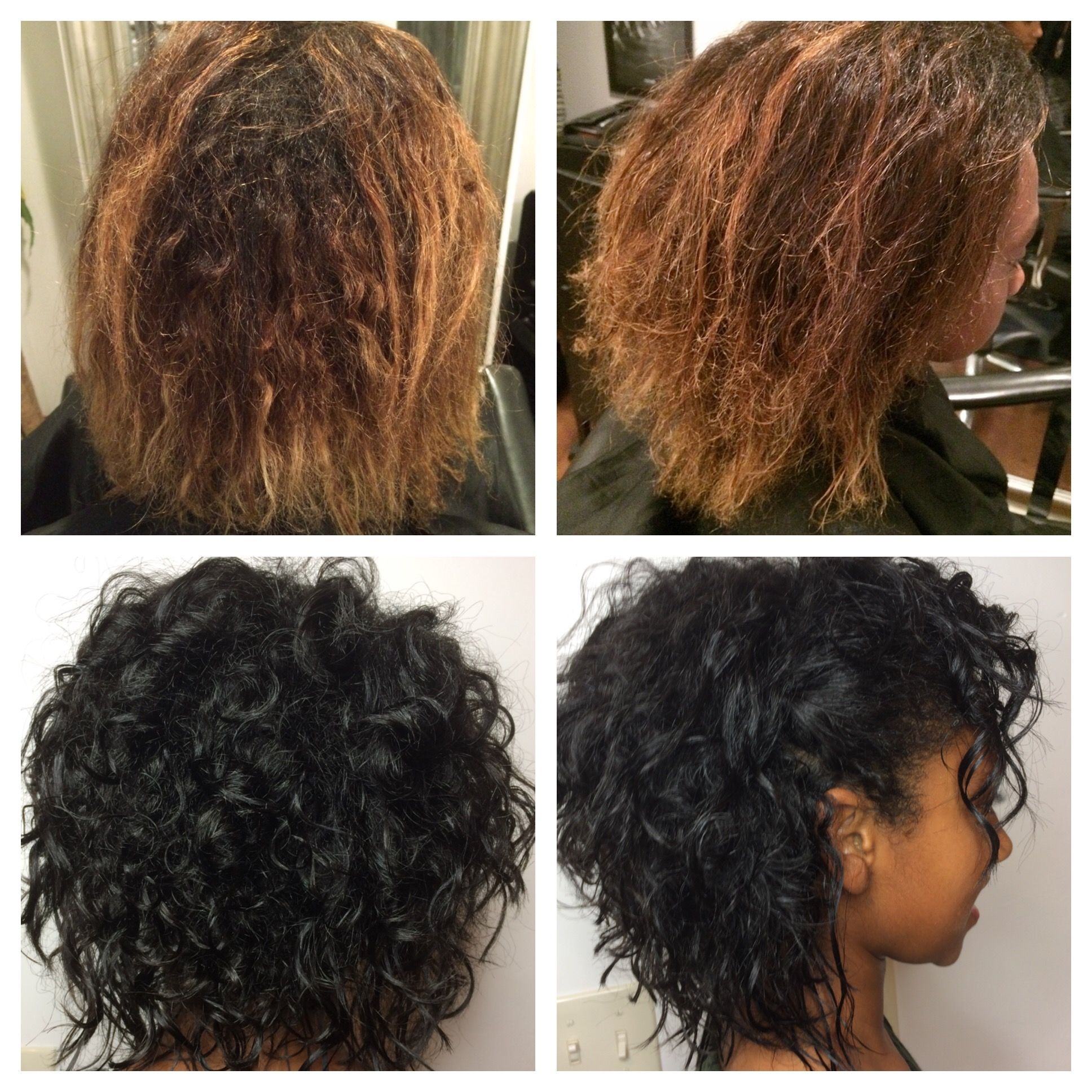 Before After Curly Cut NaturalTech Treatment Hair