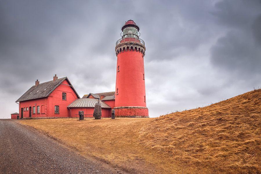Leuchtturm Bovbjerg Fyr (Dänemark), Bovbjerg, Dänemark, Leuchtturm, Nordsee, Steilküste