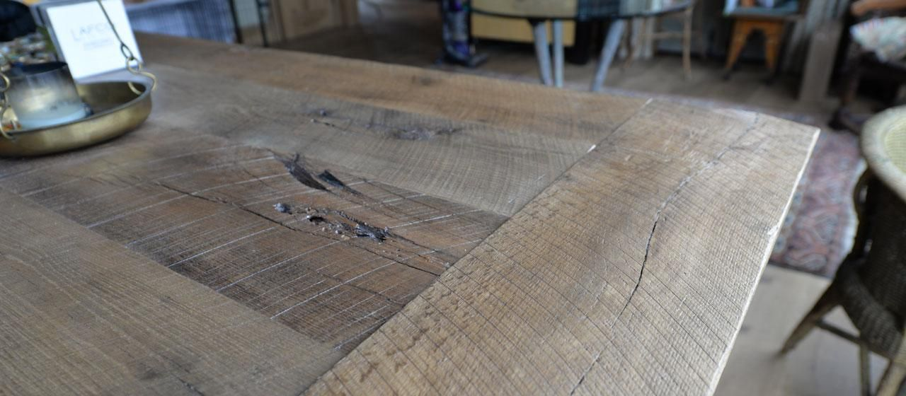 Reclaimed antique rustic oak wood island top this for Reclaimed wood manufacturers