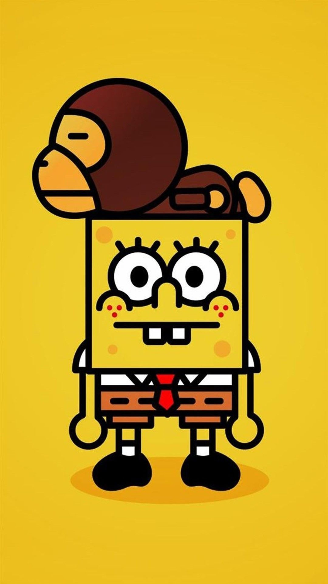 Bape Spongebob Cartoon Wallpaper Iphone Iphone Cartoon Spongebob Wallpaper