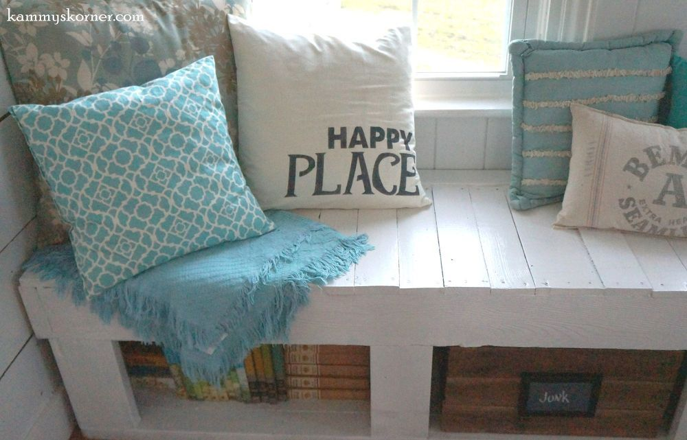 Turning An Old Plank Walkway Into Window Seats