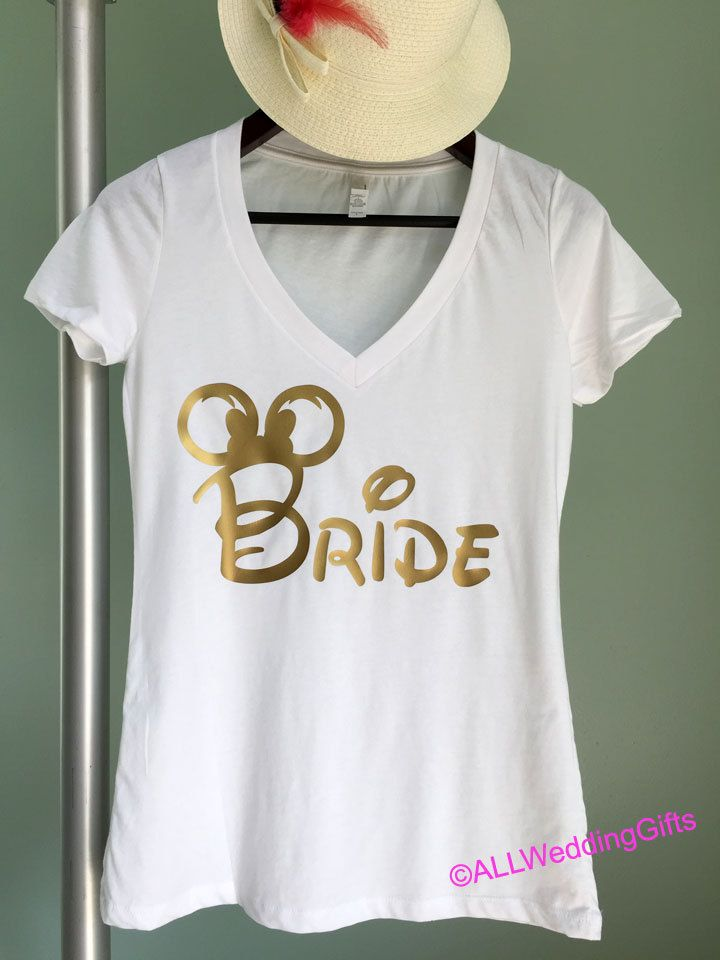 Bridesmaid Diamond Wedding Party Bridal Bachelorette Juniors V-neck T-shirt