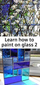 Photo of Erfahren Sie, wie man auf Glas 2 malt – #Glas #Lernen #Malen